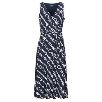 Oblačila Ženske Dolge obleke Lauren Ralph Lauren CARANA Modra