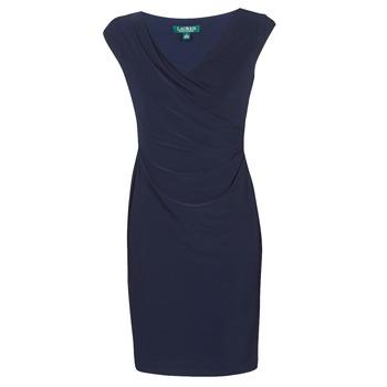 Oblačila Ženske Kratke obleke Lauren Ralph Lauren BRANDIE Modra