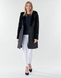 Oblačila Ženske Plašči Lauren Ralph Lauren COMBO FX SH-COAT Črna