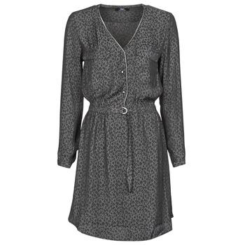 Oblačila Ženske Kratke obleke Le Temps des Cerises RABA Siva / Črna