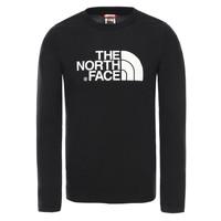 Oblačila Dečki Majice z dolgimi rokavi The North Face EASY TEE LS Črna