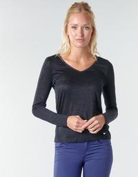 Oblačila Ženske Majice z dolgimi rokavi Les Petites Bombes ADRIANA Črna