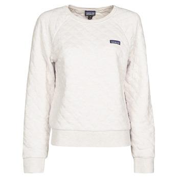 Oblačila Ženske Puloverji Patagonia W'S ORGANIC COTTON QUILT CREW Kremno bela
