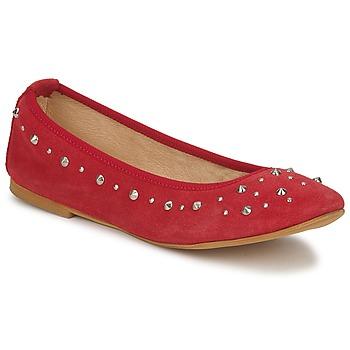 Čevlji  Ženske Balerinke Meline LUSON Rdeča