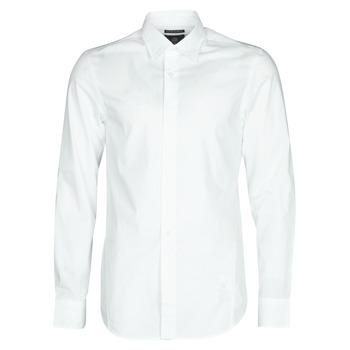 Oblačila Moški Srajce z dolgimi rokavi G-Star Raw DRESSED SUPER SLIM SHIRT LS White
