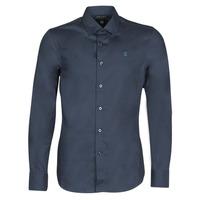 Oblačila Moški Srajce z dolgimi rokavi G-Star Raw DRESSED SUPER SLIM SHIRT LS Modrá