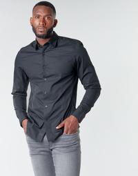 Oblačila Moški Srajce z dolgimi rokavi G-Star Raw DRESSED SUPER SLIM SHIRT LS Črna