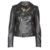 Oblačila Ženske Usnjene jakne & Sintetične jakne Oakwood RADIO Črna