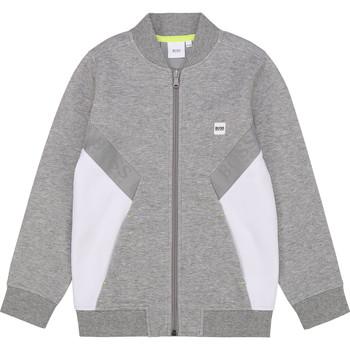 Oblačila Dečki Puloverji BOSS J25G80 Siva