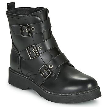 Čevlji  Ženske Polškornji Spot on F51069 Črna