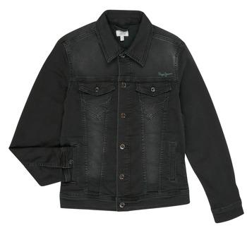 Oblačila Dečki Jeans jakne Pepe jeans LEGENDARY Črna
