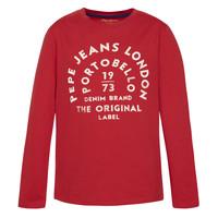 Oblačila Dečki Majice z dolgimi rokavi Pepe jeans ANTONI Rdeča