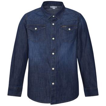 Oblačila Dečki Srajce z dolgimi rokavi Pepe jeans JHON Modra