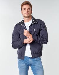 Oblačila Moški Jakne Calvin Klein Jeans ZIP UP HARRINGTON Modra