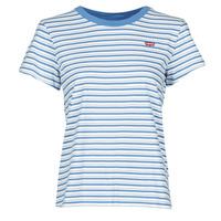 Oblačila Ženske Majice s kratkimi rokavi Levi's PERFECT TEE Silphium / Colony / Modrá