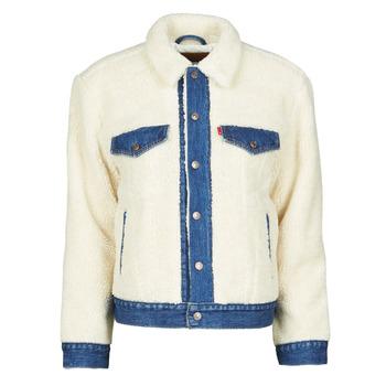 Oblačila Ženske Jeans jakne Levi's EX BF PIECED TRCKR Counting / Sheep
