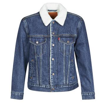 Oblačila Ženske Jeans jakne Levi's EX-BF SHERPA TRUCKER Modra