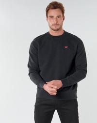 Oblačila Moški Puloverji Levi's NEW ORIGINAL CREW Črna