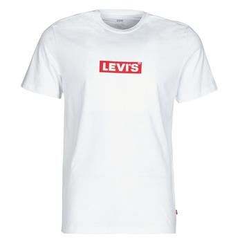 Oblačila Moški Majice s kratkimi rokavi Levi's BOXTAB GRAPHIC TEE Bela