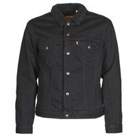 Oblačila Moški Jeans jakne Levi's TYPE 3 SHERPA TRUCKER Črna