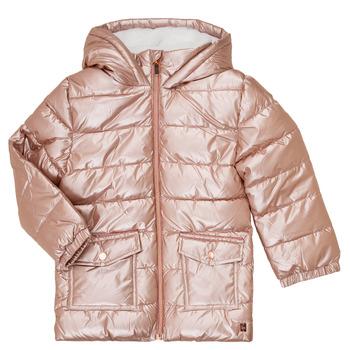 Oblačila Deklice Puhovke Carrément Beau Y16085 Rožnata