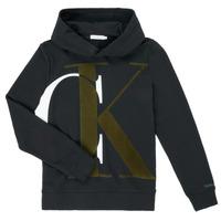 Oblačila Dečki Puloverji Calvin Klein Jeans IB0IB00628-BEH Črna