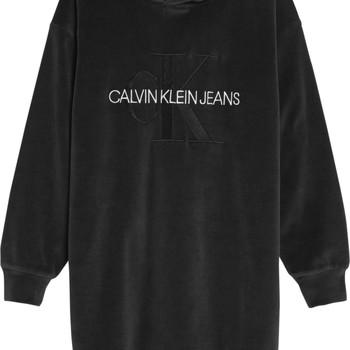 Oblačila Deklice Kratke obleke Calvin Klein Jeans IG0IG00711-BEH Črna
