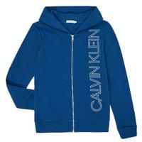 Oblačila Dečki Puloverji Calvin Klein Jeans IB0IB00668-C5G Modra