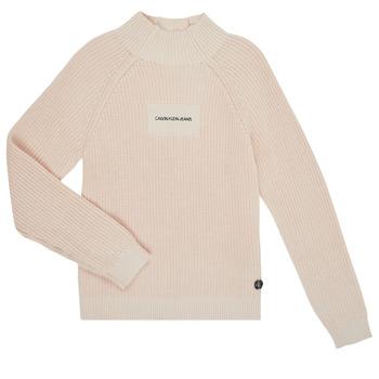 Oblačila Deklice Puloverji Calvin Klein Jeans IG0IG00680-PGB Siva