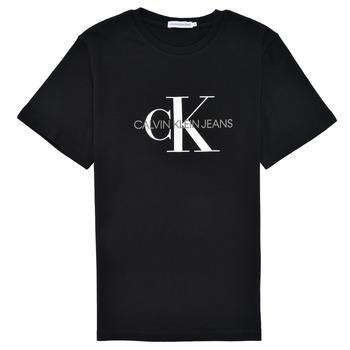 Oblačila Otroci Majice s kratkimi rokavi Calvin Klein Jeans MONOGRAM Črna