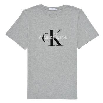Oblačila Otroci Majice s kratkimi rokavi Calvin Klein Jeans MONOGRAM Siva