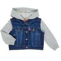 Oblačila Dečki Jeans jakne Levi's INDIGO JACKET Modra