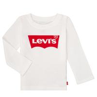 Oblačila Deklice Majice z dolgimi rokavi Levi's BATWING TEE LS Bela