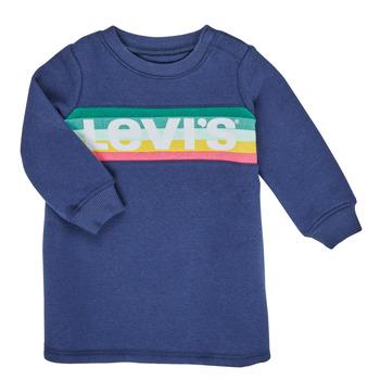 Oblačila Deklice Kratke obleke Levi's SWEATSHIRT DRESS Modra