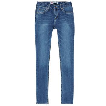 Oblačila Dečki Jeans skinny Levi's SKINNY TAPER JEANS Modra