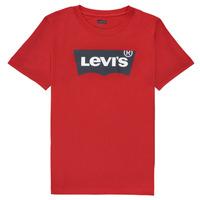Oblačila Dečki Majice s kratkimi rokavi Levi's BATWING TEE Rdeča