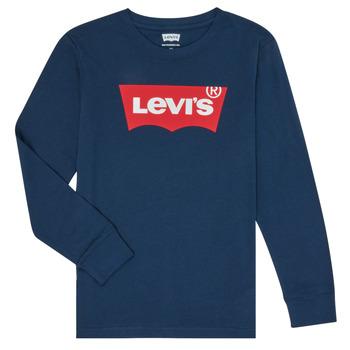 Oblačila Dečki Majice z dolgimi rokavi Levi's BATWING TEE LS Modra