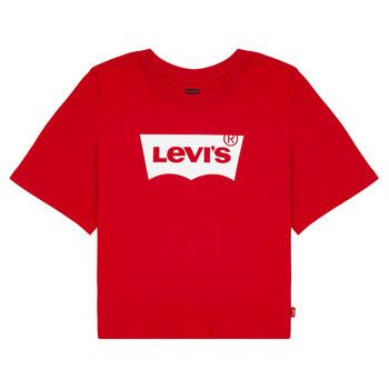 Oblačila Deklice Majice s kratkimi rokavi Levi's LIGHT BRIGHT CROPPED TEE Rdeča