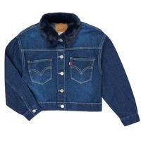 Oblačila Deklice Jeans jakne Levi's OVERSIZED TRUCKER Thames
