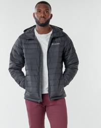 Oblačila Moški Puhovke Columbia POWDER LITE HOODED JACKET Črna
