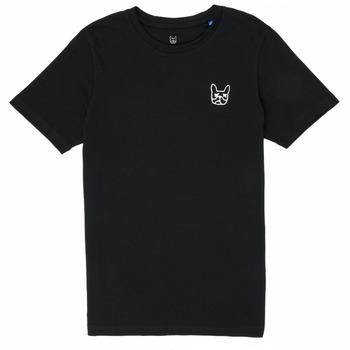 Oblačila Dečki Majice s kratkimi rokavi Jack & Jones JJAARHUS TEE Črna