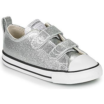 Čevlji  Deklice Nizke superge Converse Chuck Taylor All Star 2V - Coated Glitter Srebrna