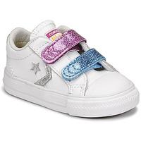 Čevlji  Deklice Nizke superge Converse STAR PLAYER 2V GLITTER TEXTILE OX Bela / Modra / Rožnata
