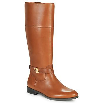 Čevlji  Ženske Mestni škornji    Lauren Ralph Lauren BAYLEE Cognac