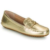 Čevlji  Ženske Mokasini Lauren Ralph Lauren BARNSBURY FLATS CASUAL Pozlačena