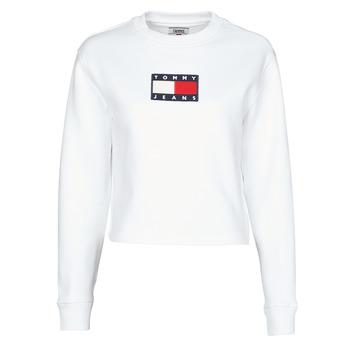 Oblačila Ženske Puloverji Tommy Jeans TJW TOMMY FLAG CREW Bela