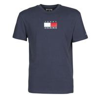 Oblačila Moški Majice s kratkimi rokavi Tommy Jeans TJM SMALL FLAG TEE Modra