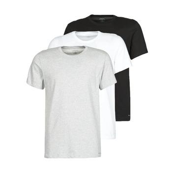 Oblačila Moški Majice s kratkimi rokavi Calvin Klein Jeans CREW NECK 3PACK Siva / Črna / Bela