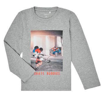 Oblačila Dečki Majice z dolgimi rokavi Name it NMMMICKEY EMIL Siva