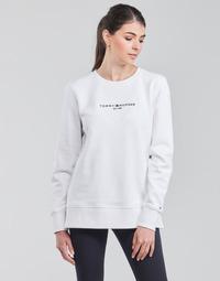 Oblačila Ženske Puloverji Tommy Hilfiger TH ESS HILFIGER C-NK SWEATSHIRT Bela